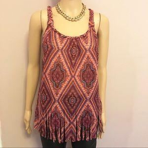 Stunning fringed shirt size medium